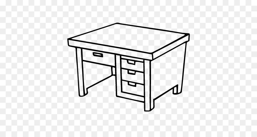 Schreibtisch Malbuch Zeichnen Büro Tisch Tabelle Png Herunterladen