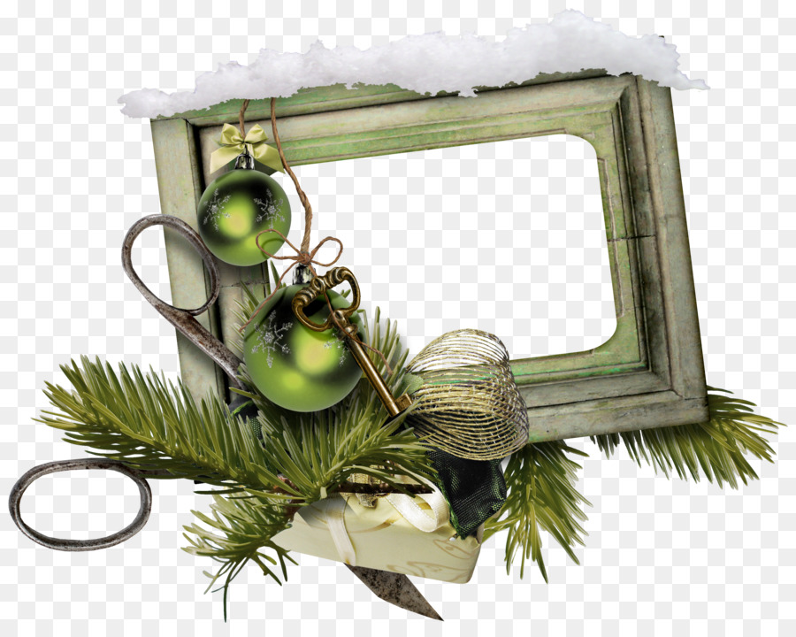 Christmas photography pine needle frame png download