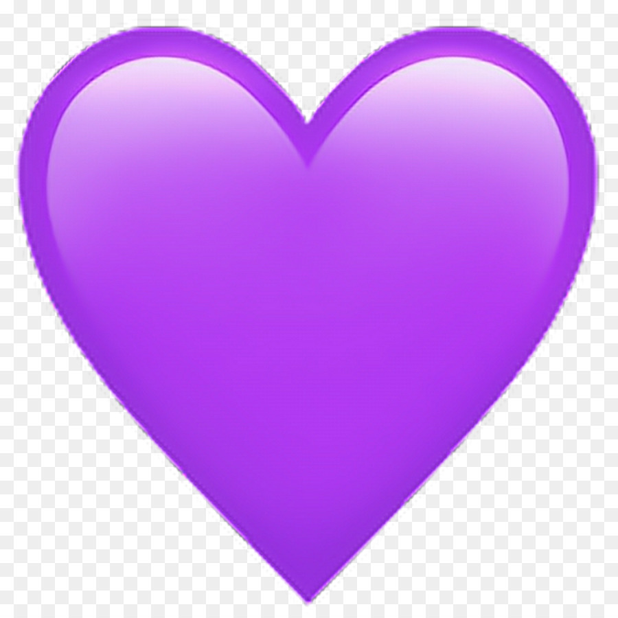 Emoji Sticker Heart Color Emoticon Facebook Icon Pink Purple Png