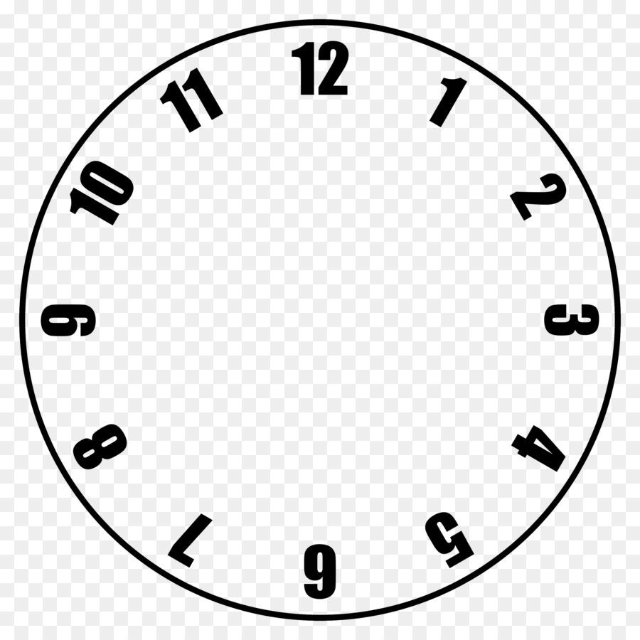 Clock face Template Clip art - quarter png download - 3000*3000 ...