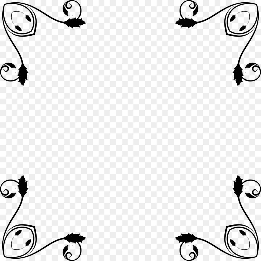 Diseño Floral Clip art - flor de ratán marco decorativo Formatos De ...