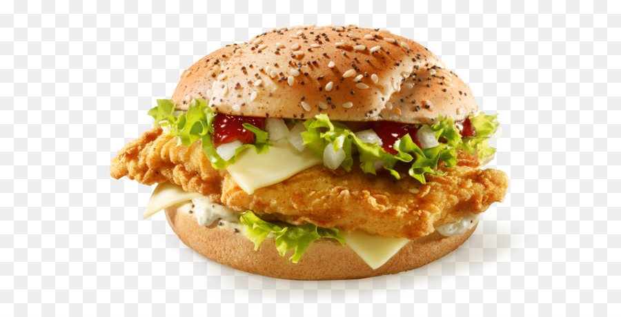 kfc hamburger cheeseburger salmon burger patty kentucky fried