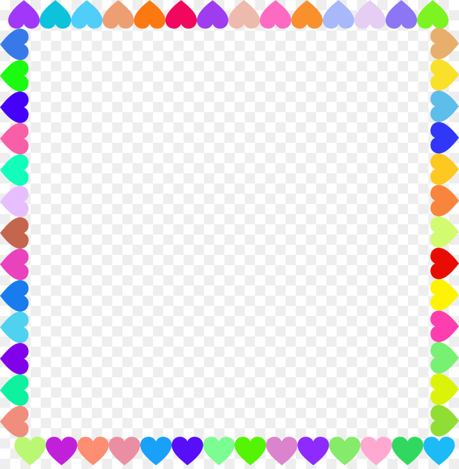 Picture Frames Heart Clip art - rainbow frame png download - 2192 ...