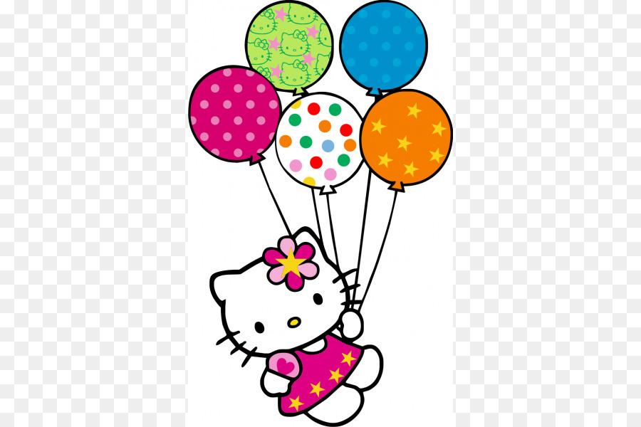 hello kitty balloon birthday clip art balloon png download 600 rh kisspng com hello kitty happy birthday clipart