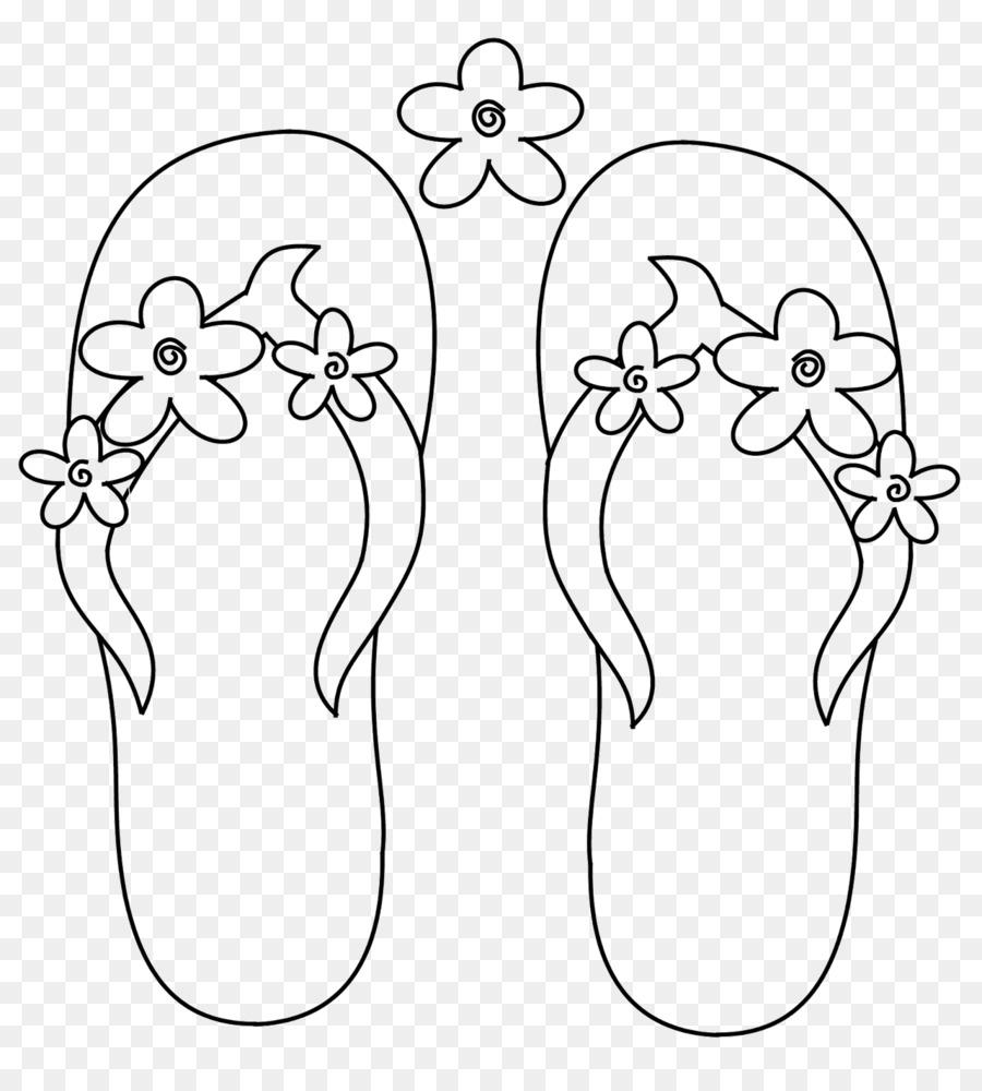 Flip-flops libro para Colorear de Zapatilla de la Página de Dibujo ...
