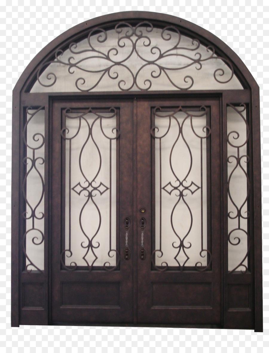 Door Sidelight Transom Arch Facade   Double Door
