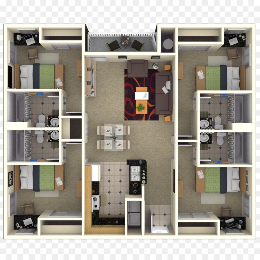 Floor Plan Studio Apartment House Bedroom Complex Png 1300 Free Transparent