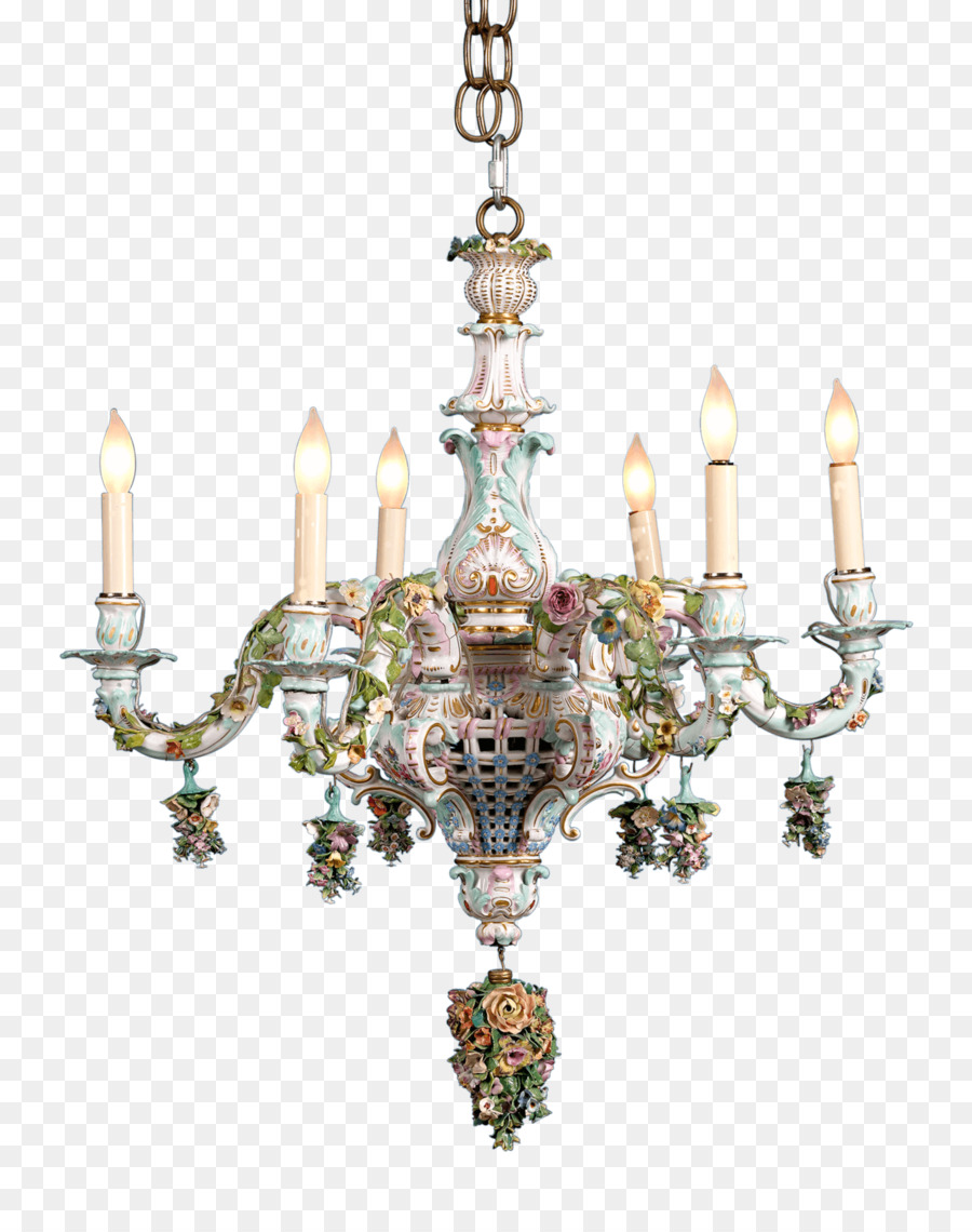 Light Meissen Porcelain Chandelier Capodimonte European Crystal Chandeliers