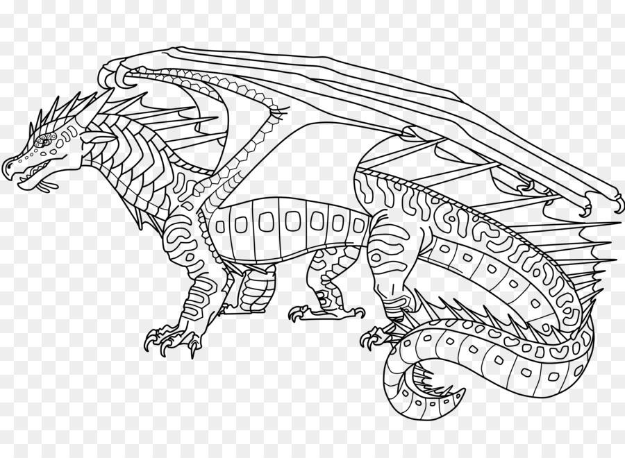 Línea de arte Alas de Fuego libro para Colorear de Dragon ...
