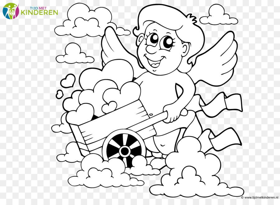 Libro para colorear de Cupido - imágenes prediseñadas de cupido png ...
