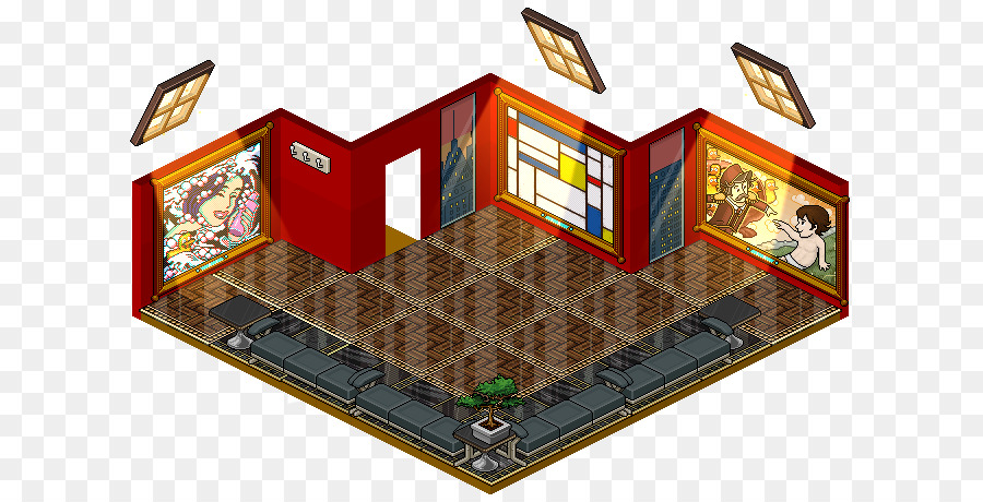 habbo game virtual world hotel room others png download 670 458