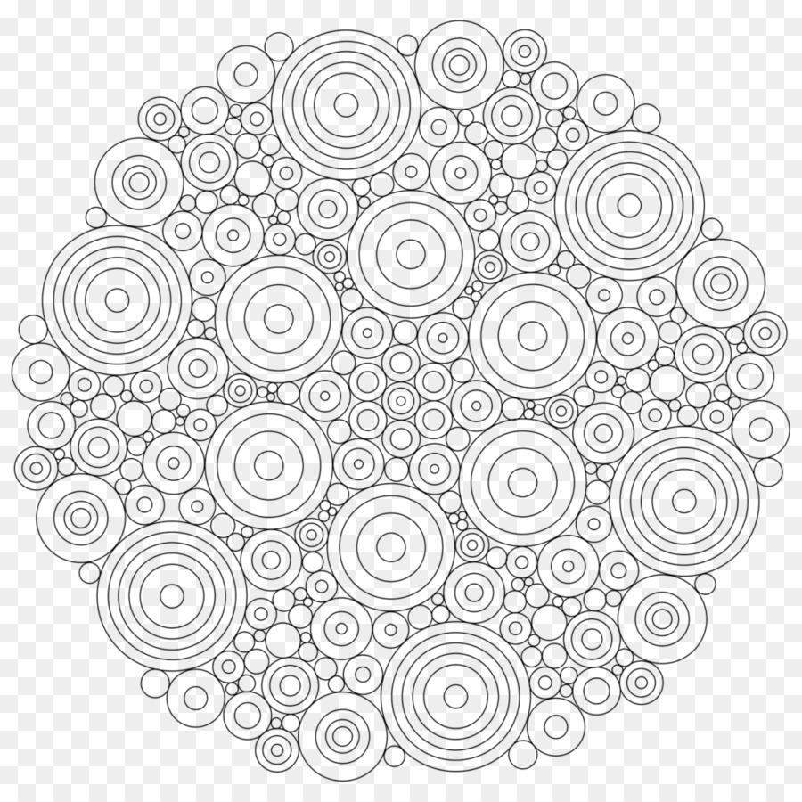 Coloring book Mandala Adult Drawing - brown mandala pattern ...