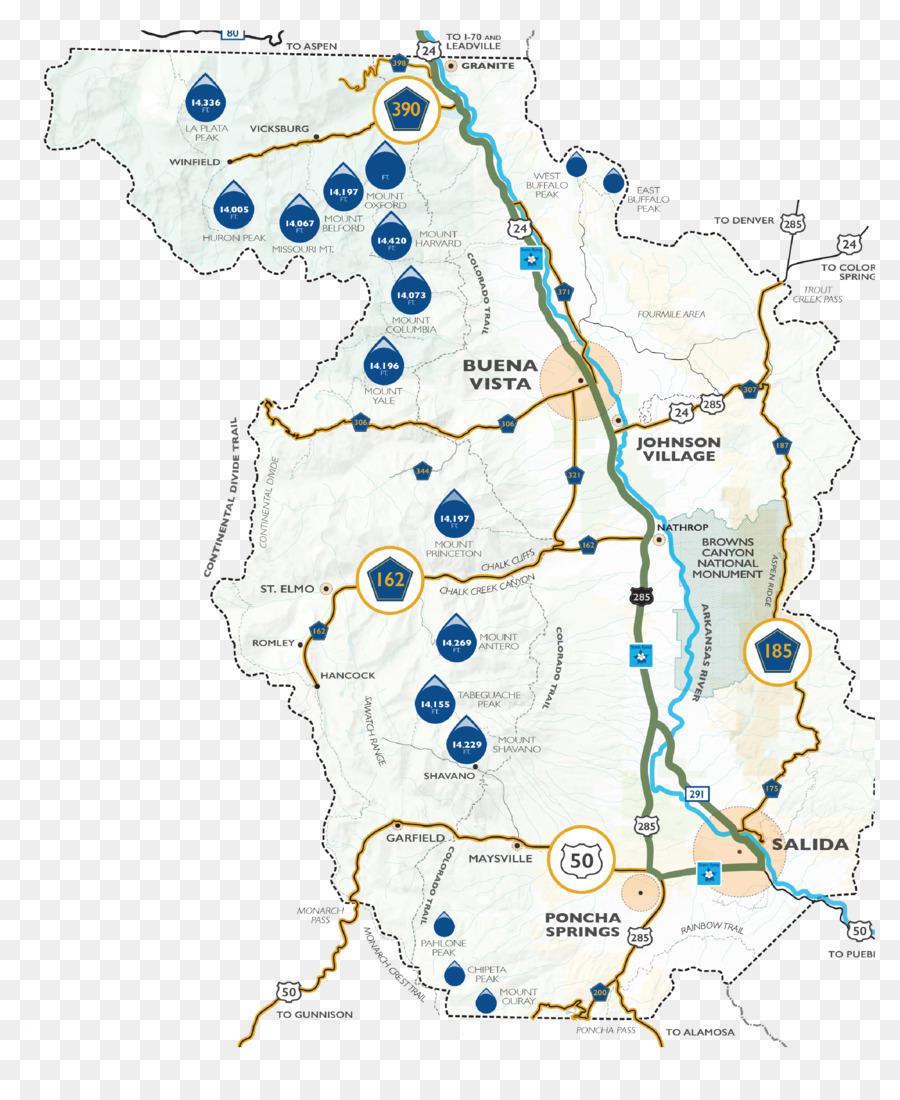 Buena Vista Salida County Scenic route Map - scenic area png ...