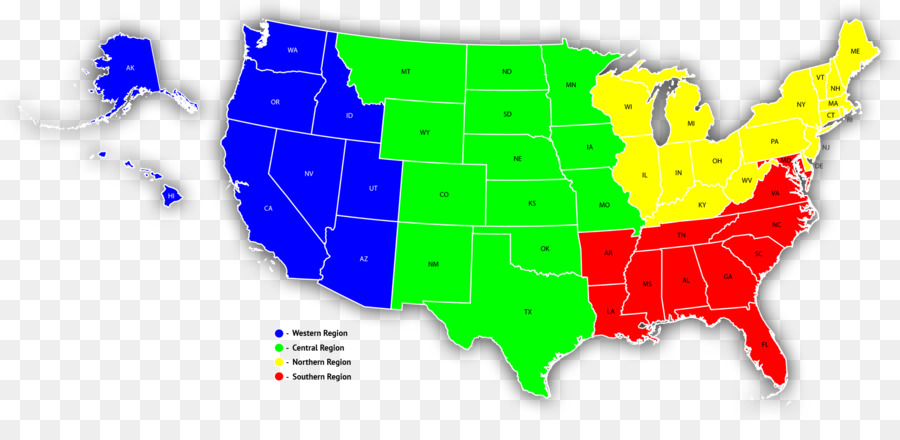 Southern United States Map Western United States Sales territory ...