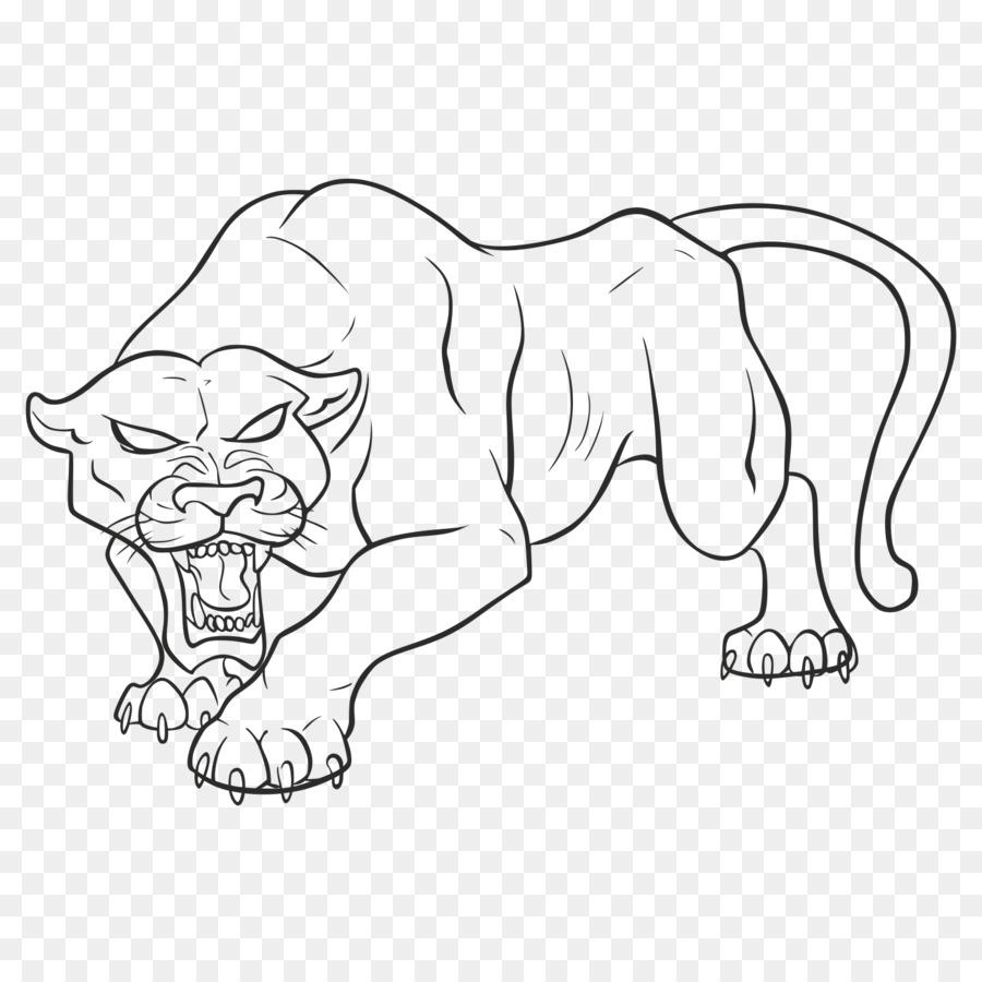 Pantera Negra Jaguar Dibujo De Leopardo - pantera Formatos De ...