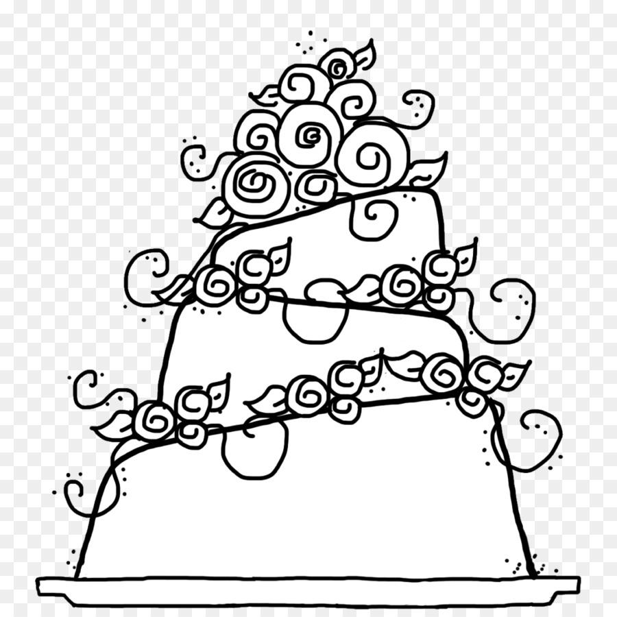 Pastel de boda, pastel de Cumpleaños para Colorear libro - dibujado ...