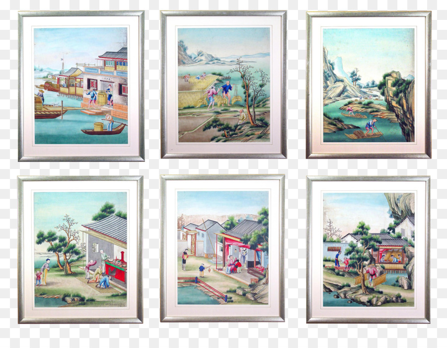 Watercolor painting Picture Frames Oil painting - gouache png ...