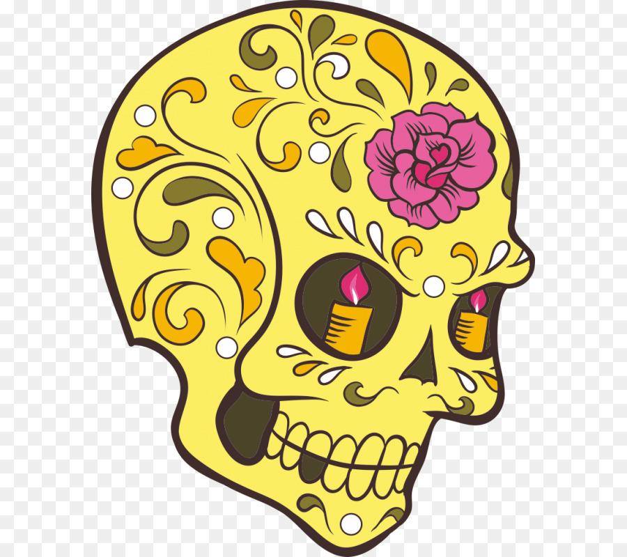 Calavera Dia de Los Muertos: Cráneo, Libro para Colorear en la ...