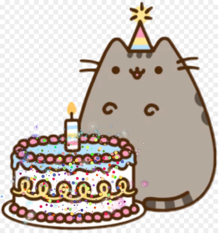 Birthday Cake Cat Pusheen Happy To You