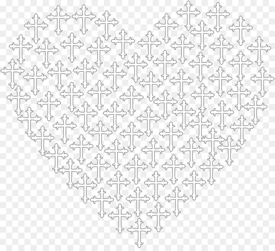 Corazón Patrón De Ganchillo - cruz da la perseverancia png dibujo ...