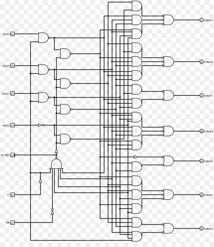 Seven-segment display Binary decoder Wiring diagram Binary-coded decimal -  binary number system