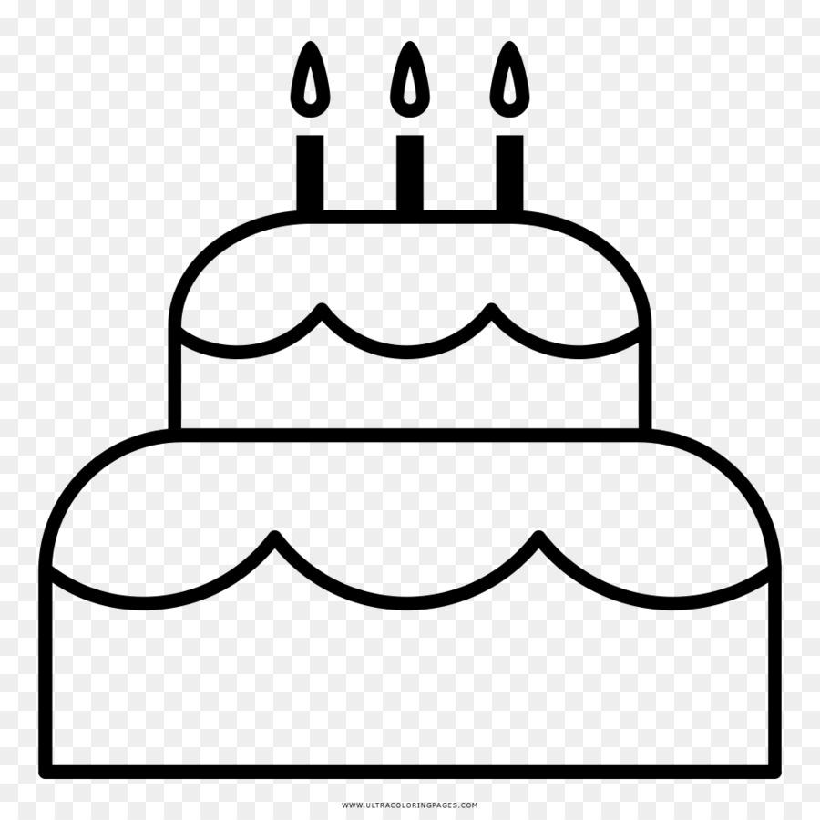 Pastel de cumpleaños, Pastel de Dibujo Torta libro para Colorear ...