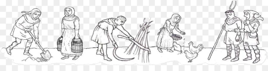 Drawing Line Art Sketch Self Taught Peasant Png Download 2282