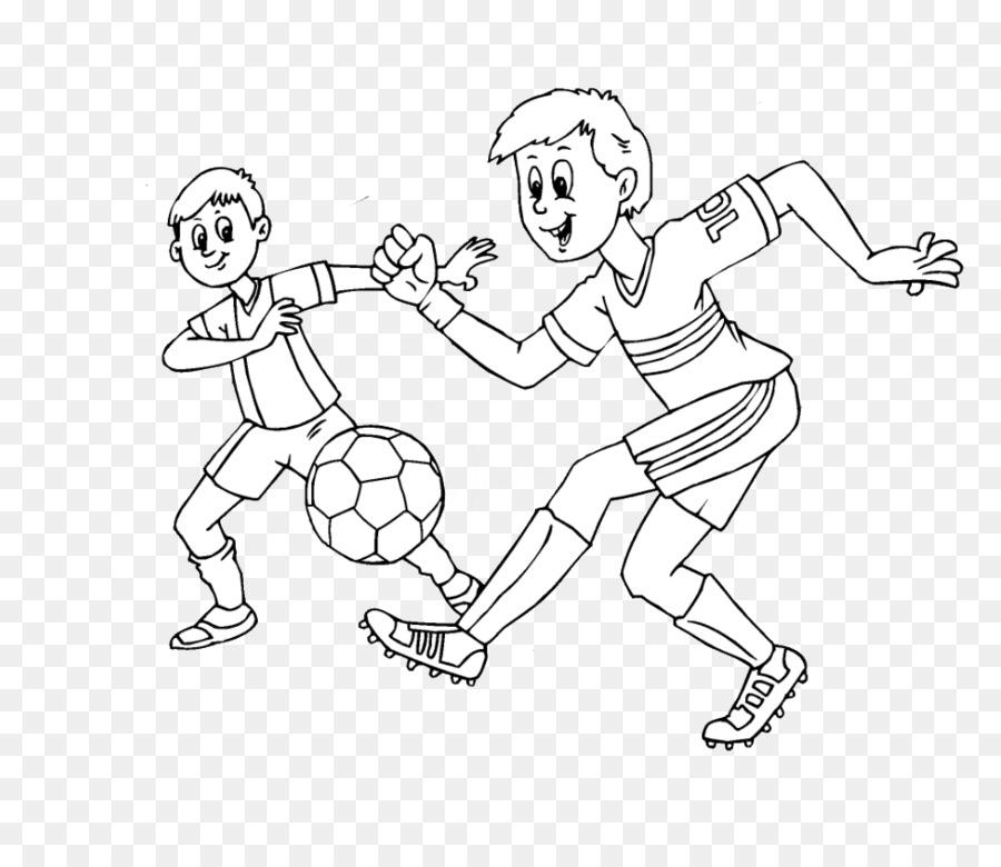 Fútbol libro para Colorear Sportart - fútbol png dibujo ...