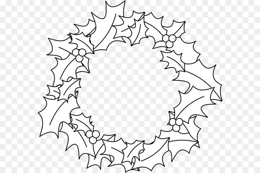 Christmas Garland Drawing.Christmas Tree Line Drawing Png Download 640 600 Free