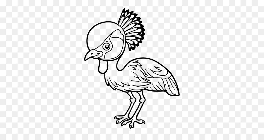 Siyah Taç Vinç Kuş Boyama Kitabı çizim Vinç Png Indir 600470