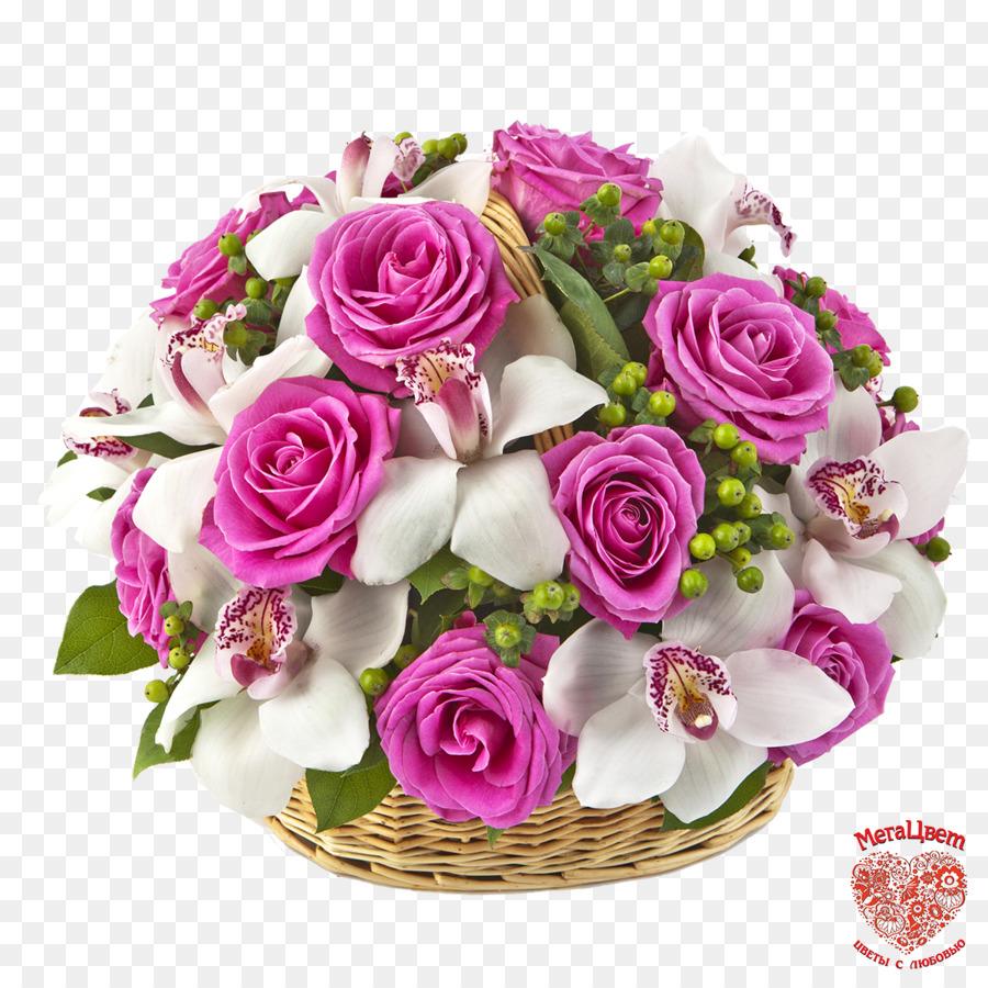 Flower bouquet Cut flowers Orchids Rose - flower basket png download ...