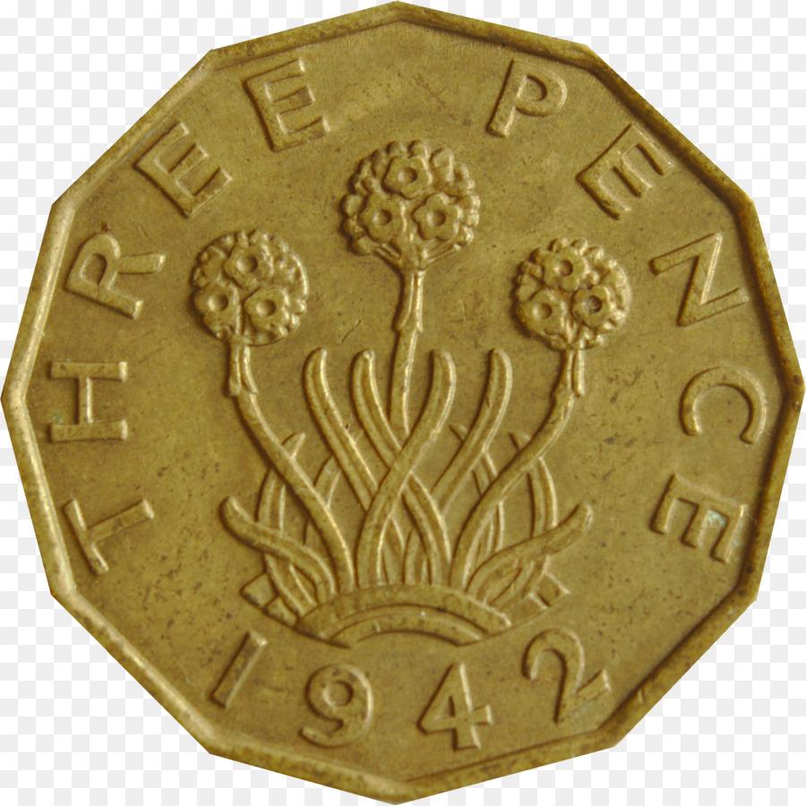 Threepence Münze Penny Vorder Und Rückseite Schilling Reverse Png