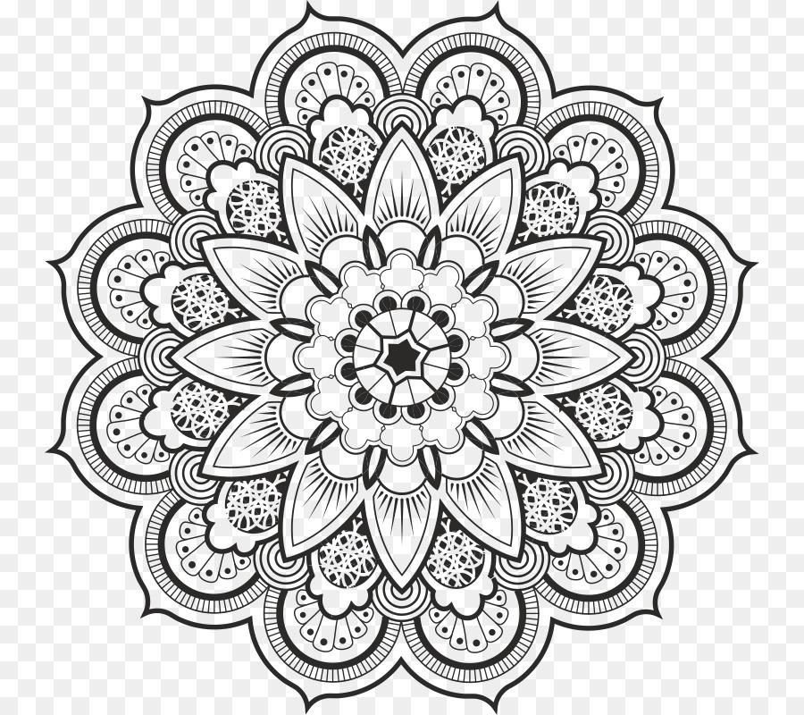Mandala Mehndi Dibujo para Colorear libro - diseño Formatos De ...