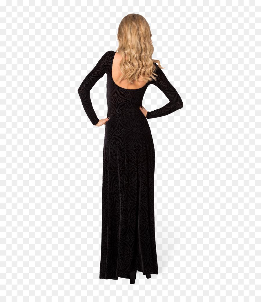 Little black dress Velvet Gown Sleeve - dress png download - 683 ...