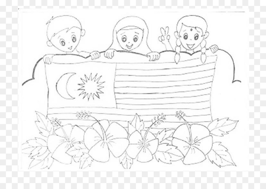 Hari Merdeka Malayan Declaration of Independence Coloring