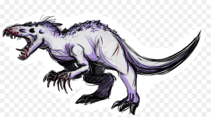 tiranossauro indominus rex velociraptor desenho fã de arte rex