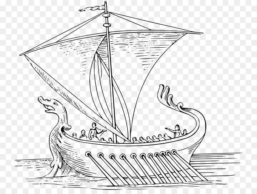 Kapal Mewarnai Buku Clip Art Kapal Unduh Garis Seni Perahu