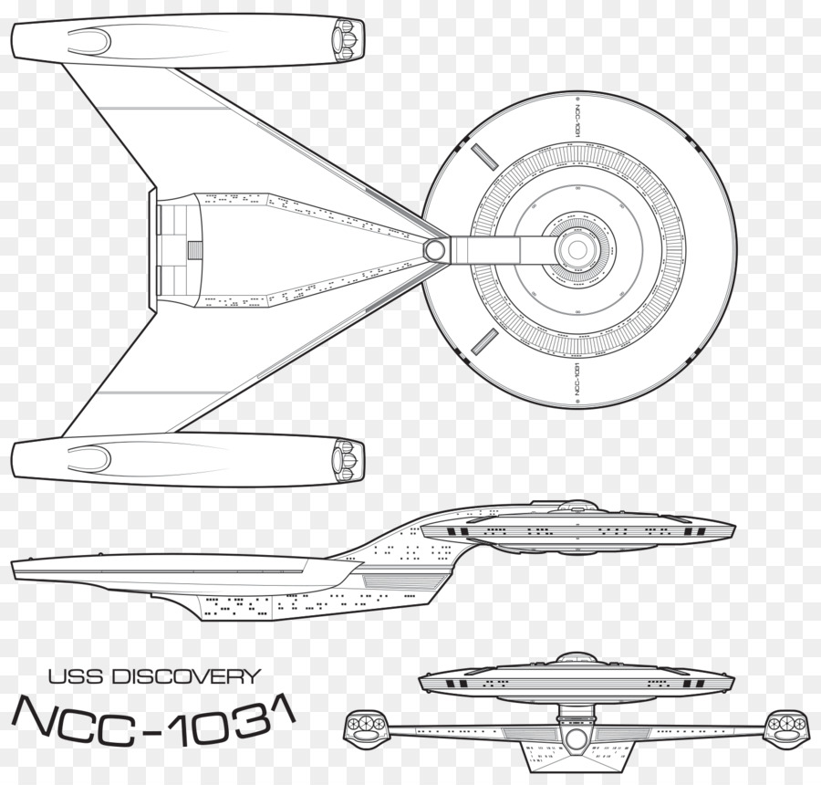 Uss Discovery Star Trek Starship Enterprise Sketch Others Png