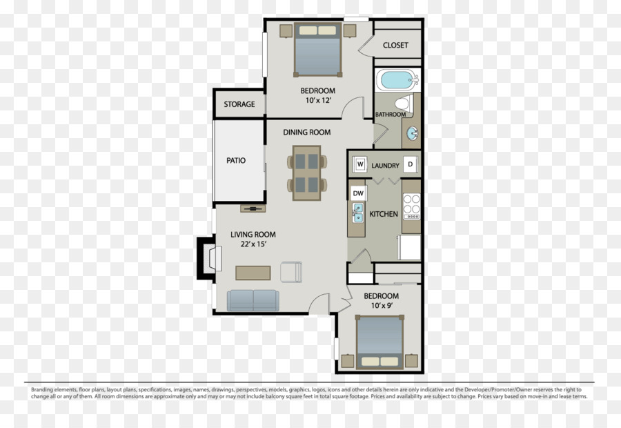 Floor plan Apartment Redmond Hill Renting - three rooms and two rooms
