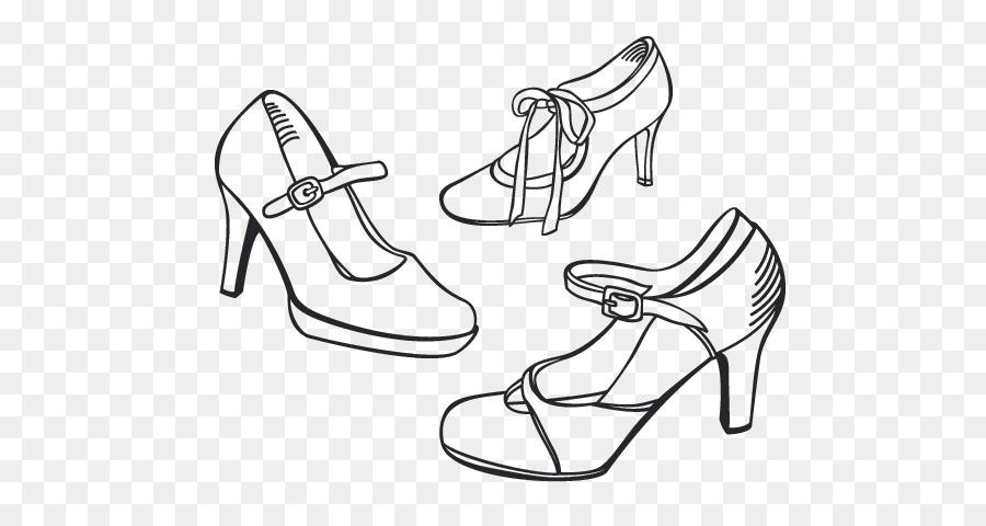 Zapato de tacón zapato con Plataforma libro para Colorear de ...