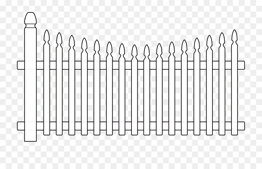 Fence Coloring Book Gate Drawing