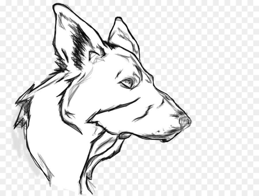 Pastor alemán Hocico del Cachorro Dibujo de perro de Detección de ...