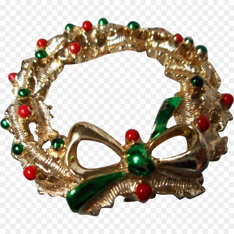 christmas ornament wreath brooch pin hand painted wreaths png