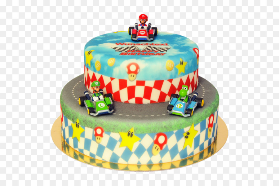 Birthday Cake Super Mario World 2 Yoshis Island Super Mario Kart