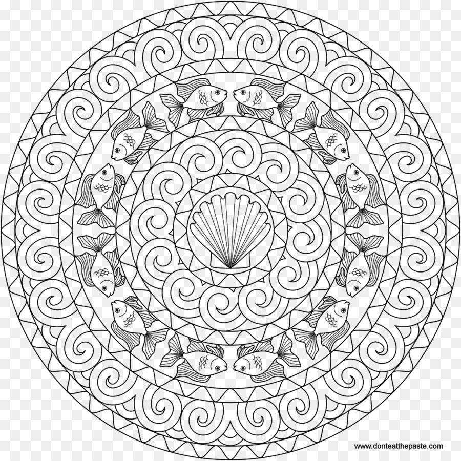 Coloring Book Geometry Mandala Adult