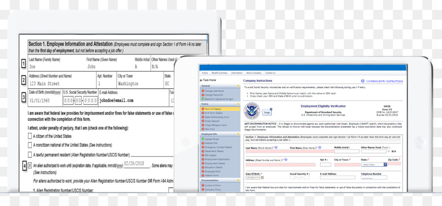 Form I 9 E Verify Organization Computer Program Document Others
