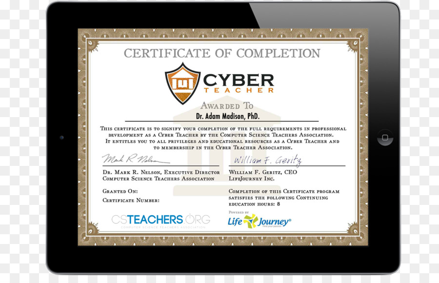 Teacher Professional Development Academic Certificate Computer