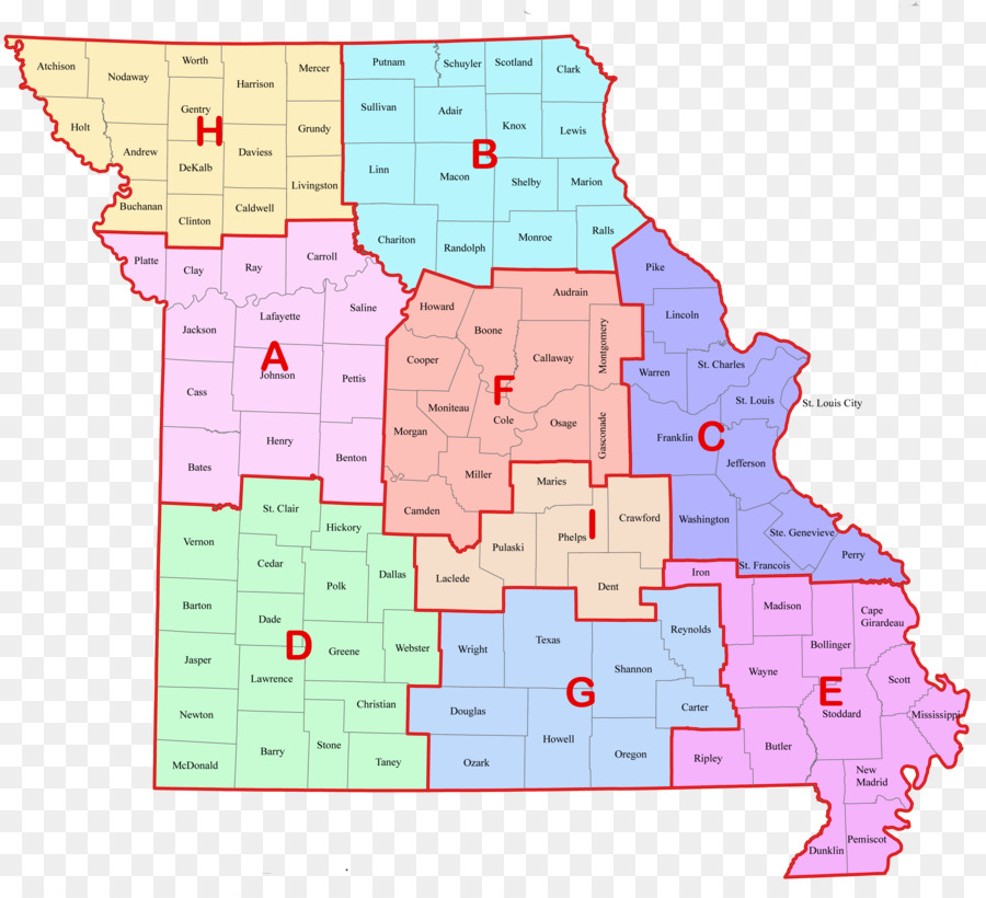 Map Missouri State Highway Patrol Troop Missouri Safety Center ...