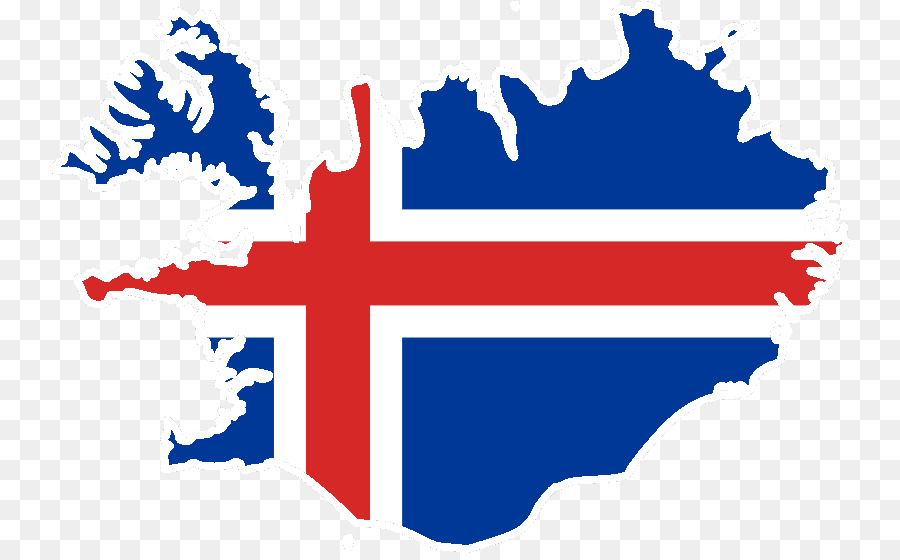 Flag of Iceland Vector Map - map png download - 800*553 - Free ...