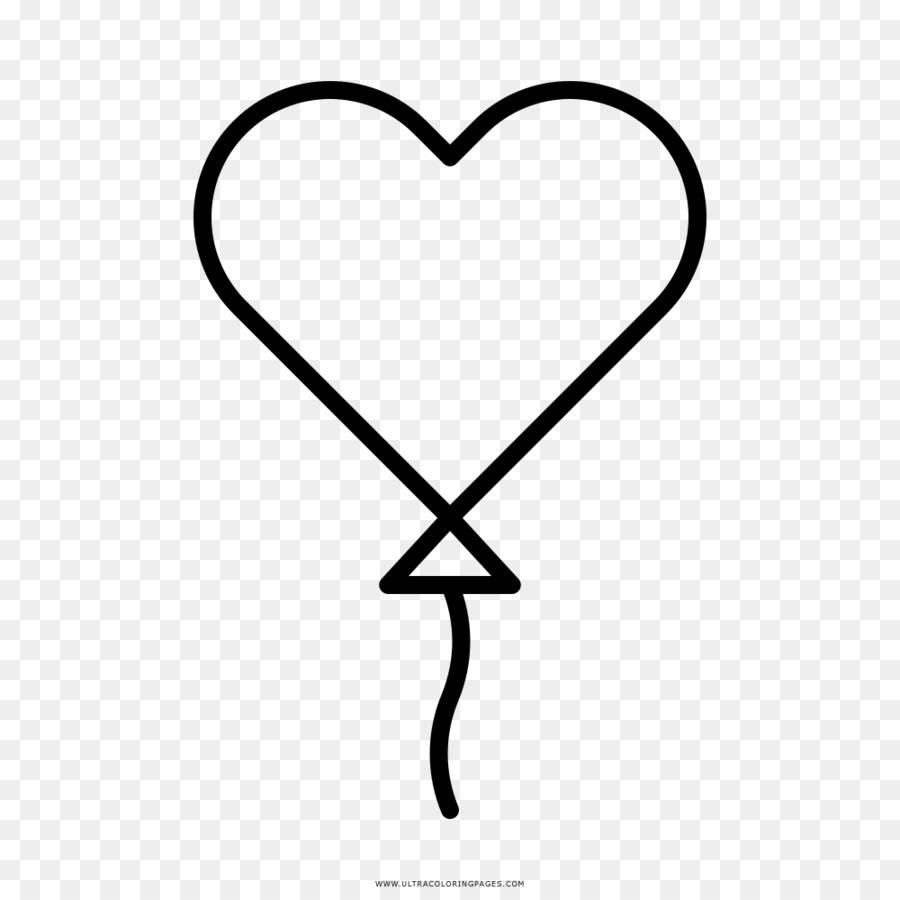 Libro para colorear Corazón de Juguete globo de Dibujo - corazón png ...